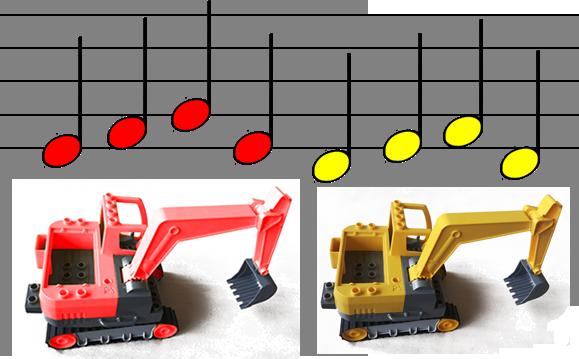 roter Bagger, gelber Bagger - oder: das musikalische (Baustellen-) Gedächtnis des Großen