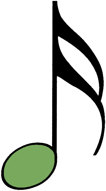 bunte Sechzehntelnote grün