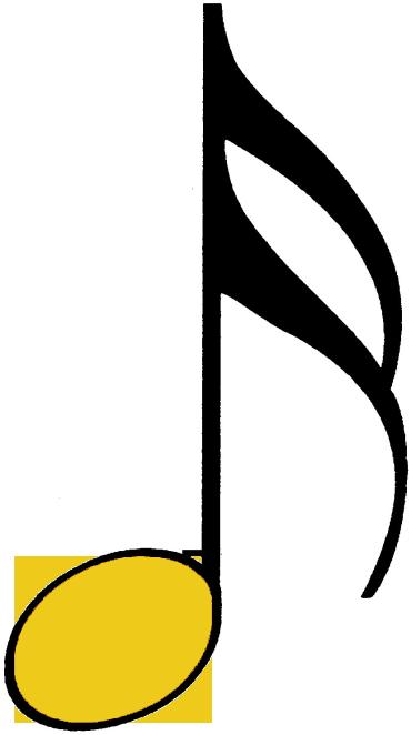 bunte Sechzehntelnote gelb