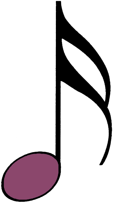 bunte Sechzehntelnote lila