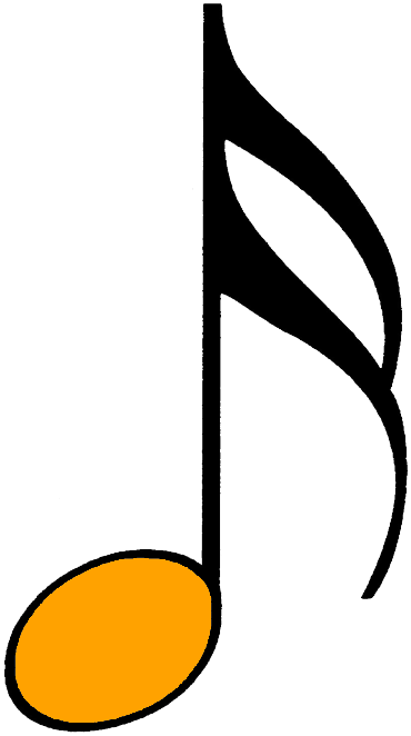 orange sechzehntelnote