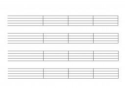 Notenpapier mit Taktstrichen