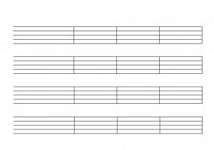 Notenpapier mit Taktstrichen Din A5