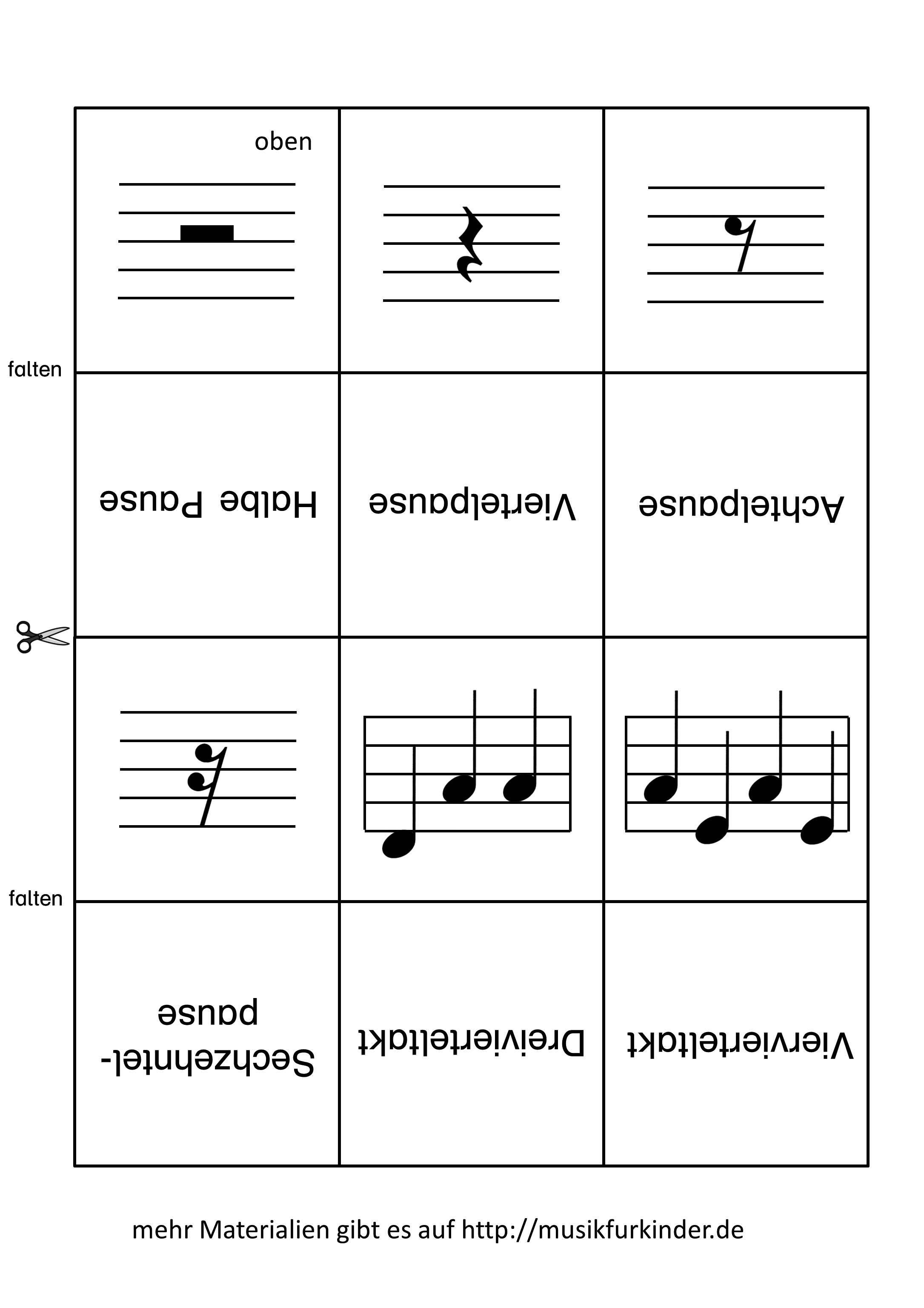 Notenwerte Memory Lernkarten 2
