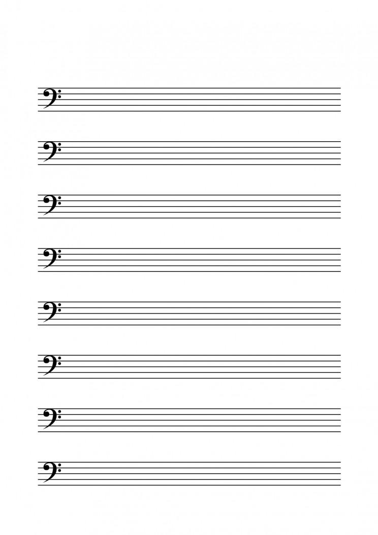 Notenblu00e4tter mit Bassschlu00fcssel - Musik fu00fcr Kinder