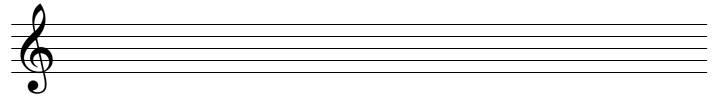 Notenzeilen Violinschlüssel